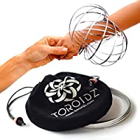 Toroidz ® - Authentic - Amazing Magic Flow Toy w/ Quality Velvet Travel Bag - Interactive Museum - 3D ARM RING - Science, Circus , Festival - All Ages Gift