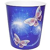 Papierkorb / Behälter - ' bunte Schmetterlinge ' - 10 Liter - aus Kunststoff - Mülleimer / Eimer - Aufbewahrungsbox für Kinder / Büro - Mädchen & Jungen - Abfalleimer - Schule - für Kinderschreibtisch / Abfallbehälter Kinderzimmer - Erwachsene - Schmetterling - Tiere / blau - Blumenranken Retro Design - Blüten - auch als Blumentopf nutzbar - Kunststoffeimer / Abfallsammler - Spielzeugkorb / Popcornschüssel / Popcorn - Korb - Aufbewahrungskiste Spielzeug - Schüssel