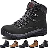 Winter Boots Mens Womens Snow Boots Warm Adults Faux Fur Ankle Boots Shoes Ladies Footwear with Fully Fur Lined Lining & Rubber Sole for Casual Outdoor Walking Hiking Travelling
