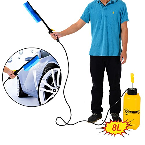 outsunny-8l-car-washer-power-portable-hand-pump-action-high-pressure-sprayer-cleaner-water-wash-hose