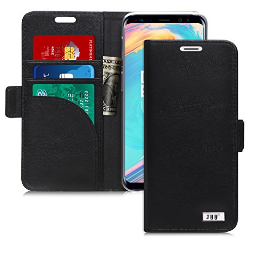 Coque Samsung Galaxy S9, Coque Galaxy S9, Fyy® [Véritable cuir] Étui portefeuille...