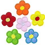 WENTS Flower Pins Badges Cute Pins Brooch for Clothing Bags Backpacks Jackets Hat Decor Multi Colour 6 pcs