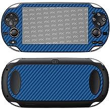 "Skin Sony PlayStation Vita ""FX-Carbon-Blue"" Sticker Pegatina"