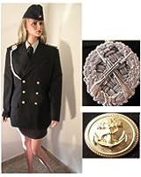 polizei uniform jacke gr e 48 mit effekten fasching karneval kost m bekleidung. Black Bedroom Furniture Sets. Home Design Ideas