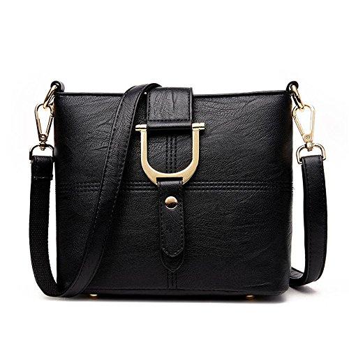 Meoaeo Neue Single Schulter Obliquer Querschnitt Beutel Einfache Schulter Einfacher Sommer Multifunktionale Tasche Dunkelgrau black