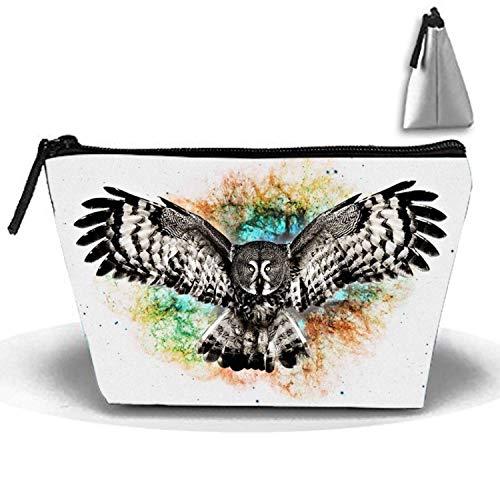 Flying Owl_ Large Reise-Kosmetiktasche Kosmetiktasche (Männer Hat Owl)