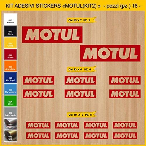 Adhésifs Stickers pegatina MOTUL - KIT 2-16 PCS- Moto Motorcycle cod. 0758 (031 Rosso)