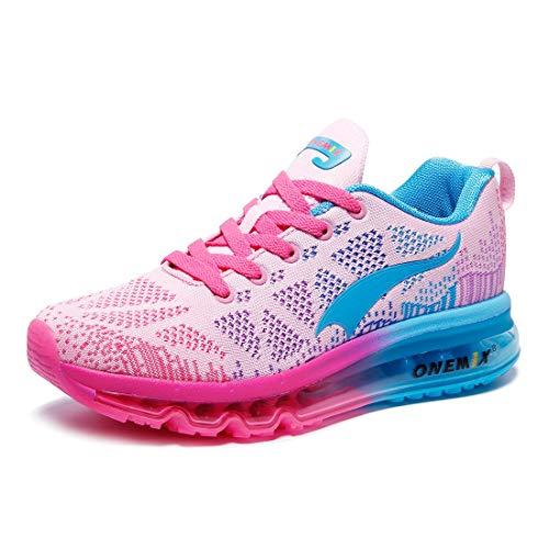 ONEMIX Damen Laufschuhe Air Sportschuhe Sneaker Turnschuhe Running Fitness Straßenlaufschuhe Rosa