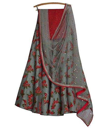 ShreeMadhav Enterprise Silk Lehengas cholis(SME-A1024_multicolor_Free Size,lehenga choli)