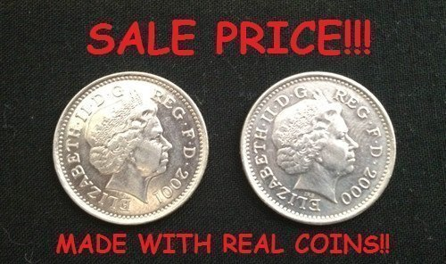 DOUBLE SIDED COIN 10p / DOUBLE HEADED COIN 10 Pence / HEADS ON BOTH SIDES