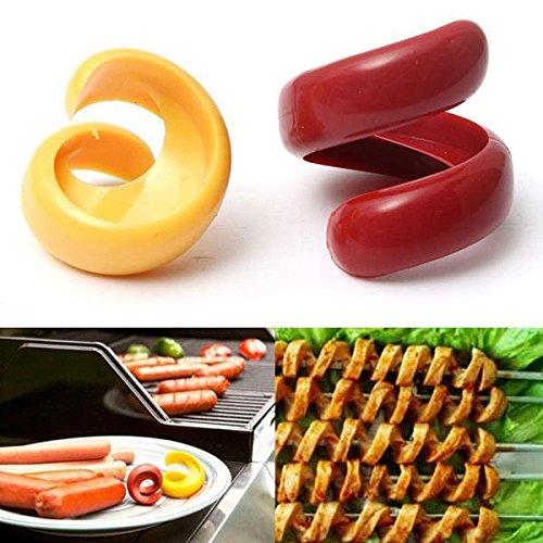 Wurst Spiralschneider BBQ Spirale Hot Dog Cutter