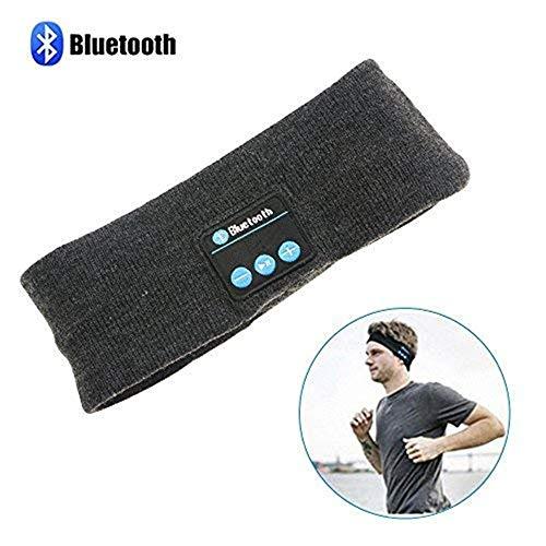 Sport Kopfbedeckungen Schutz Radfahren Bandana Wireless Bluetooth Stirnband, Wireless Yoga Sport Stirnband Schlaf Kopfhörer Headset Best Noise Cancelling Laufende Kopfhörer mit Mikrofon Eingebaute Ste
