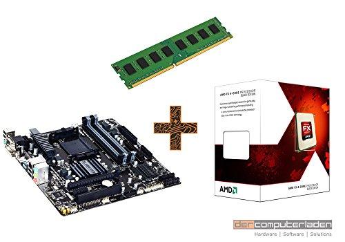 PC Aufrüstkit AMD, FX-4300 4x3.8 GHz, 4GB DDR3, Radeon HD3000-1GB, Mainboard Bundle, Tuning Kit, fertig montiert, Spiele Office zusammengestellt in Deutschland Desktop Rechner