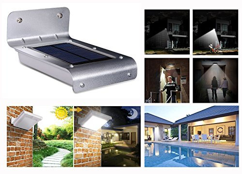 Solar Light, Human Body Induction Lamp, Outdoor Solar Wall Lamp, Garden Lawn Light, Waterproof Led Light(Flat hood)