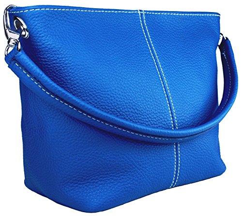 DELARA Shopper Leder, Farbe: Braun royalblau