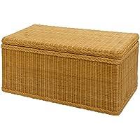 Preisvergleich für korb.outlet Truhe/Wäschetruhe rechteckig Wäschesammler aus echtem Rattan Wäschekorb in der Farbe Honig