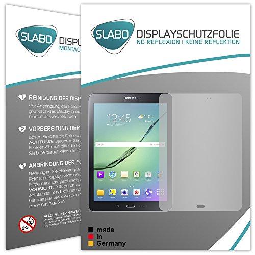 Slabo 2 x Displayschutzfolie Kompatibel mit Samsung Galaxy Tab S2 9.7 (SM-T813) (SM-T819) Displayschutz Schutzfolie Folie No Reflexion | Keine Reflektion MATT