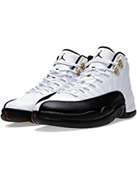 the latest 5ddcf 5cf08 NIKE Mens Air Jordan 12 Retro Taxi White Black-Taxi-Varsity Red Leather  Basketball Shoes Size 12.5, Wei, 47 D(M) EU…