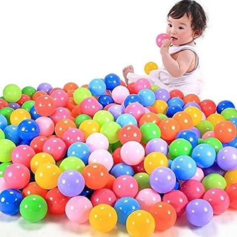 Koly 100pcs de la bola de color y diversión Pit juguete de la nadada de la bola de plástico blando Océano bola de niño del bebé de juguete