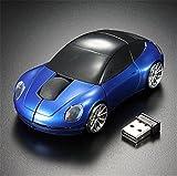 Die besten Gaming drahtlose Mäuse - Interesting® Blaue 3D drahtlose optische 2.4G stilvolle Auto Bewertungen