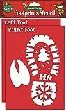 Weichnachtsmann Fußabdrücke Schablone + Rentier Weihnachtsmann Weihnachten Edward The Elf