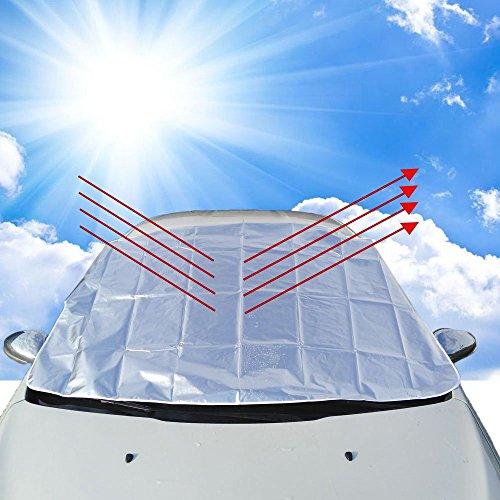 Boonor Auto Scheibenabdeckung,windschutzscheibenabdeckung Windschutzscheibe Schneedecke , Sonnenschirm Schutz Außen Schild Schutz,150*118 cm (Auto)