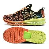 T-Gold Scarpe da Ginnastica Uomo Donna Scarpe da Corsa Sportive Running Fitness Sneakers(EU 38,Arancio Nero)