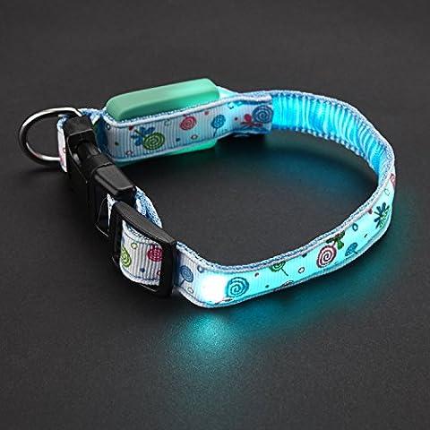 FONPOO FP3600 LED correa colorido de seguridad collar de paletas coloridas