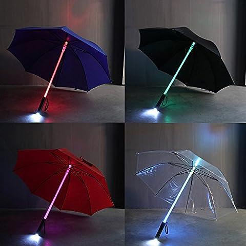 Inovey Parapluie Lumineux LED Flash Pour Le Parc D'Attractions De Nuit Protection-Rouge