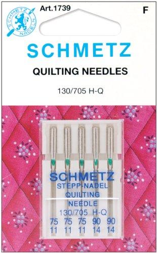 Euro-Notions Quilt Machine Needles-Sizes 11/75 (3) & 14/90 (2)