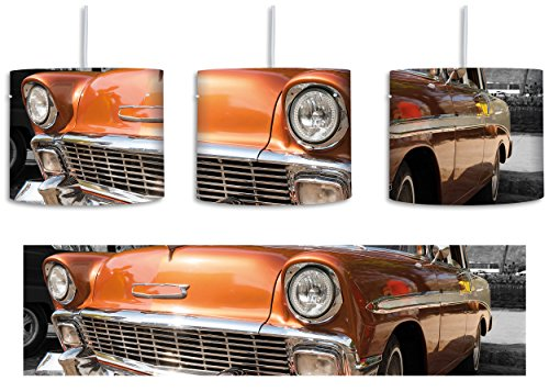 Oranger kult oldtimer inkl. lampenfassung e27 lampe mit motivdruck