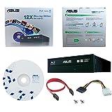 ASUS BW-12B1ST 12X Blu-Ray CD DVD Blu-ray-Brenner Interne Drive + BD Suite Software + Kabel & Befestigungsschrauben