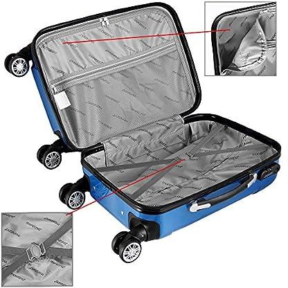 4tlg-Reisekoffer-Hartenschalenkoffer-Koffer-Set-Premium-Beauty-Trolley-ABS-Kunststoff-PC-beschichtet-4fach-Kantenschutz-Alu-Teleskopgriff-gummierte-Zwillingsrollen-Beautycase-blau
