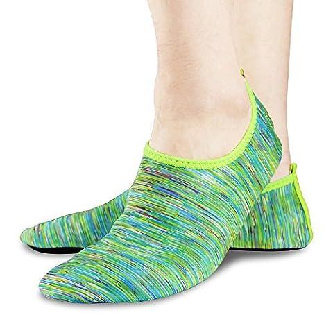Thunder Unisexe Chaussures Water Skin Aqua Socks Chaussures Barefoot pour Beach Pool Sports nautiques, Exercice de yoga, Course en plein air, Fitness