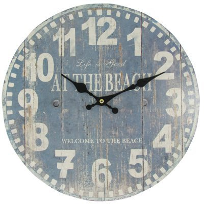 life-is-good-at-the-beach-design-rustic-wood-effect-wall-clock