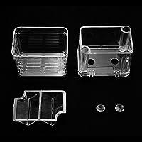 Incubadora de Caja de Aislamiento de cría de Peces Multifuncional para Tanque de Peces Acuario Caja de incubadora de Tanque Transparente