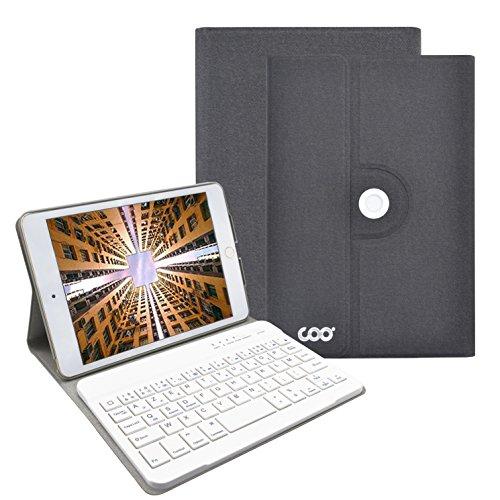 iPad mini Bluetooth Tastatur, COO Schutzhülle-Tastatur für Apple iPad mini 4, 3in1 Tastatur gilt für IOS, Android, windows System, auch Smart cover mit 360 Grad-Vollschutz und Multi-Angle Ständer (mini 4, Dunkelgrau) Angle Ständer Für Laptop
