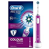 Oral-B PRO 600 CrossAction Purple Edition Braun - Spazzolino elettrico ricaricabile
