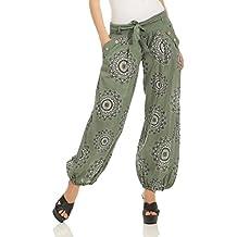 ZARMEXX Signore Harem Pants Bloomers dei Pantaloni Harem di Yoga Pantaloni  Harem Estivo con Tessuto Cintura 8437fba8587a
