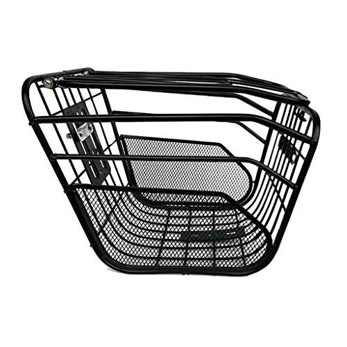 Fahrradkörbe Übergroße Metall Fahrradkorb Anti-Rost Abnehmbare Container Bike Zubehör For Road Mountain Faltrad Elektro-Fahrrad (Color : Black) -