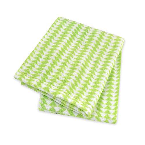Territorium Moderne Kollektion flauschige Fleecedecke mit Canvas Tasche, Grün