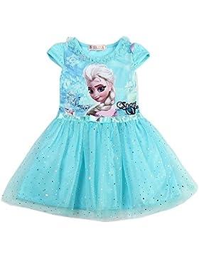 MiXiaoJie Vestido de Ni?a Vestido de Princesa Vestido de Fiesta Ni?a de Flor Lentejuelas Trajes Brillantes Trajes