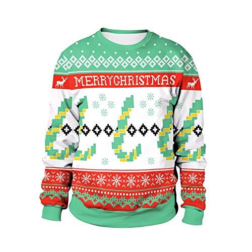 Damen Herren Sweatshirt Hoodies Weihnachten Kostüme Schneeflocke Pixel -