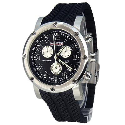 Nautec No Limit Firth - Reloj cronógrafo de caballero de cuarzo con correa de goma negra (cronómetro) - sumergible a 100 metros de Nautec No Limit