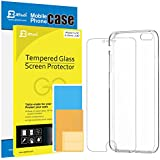 iPhone SE, JETech iPhone 5/5S/SE Bumper Case (HD Clear) and Screen Protector (0.33 Tempered Glass) Combo for iPhone 5 5S SE - 0426A
