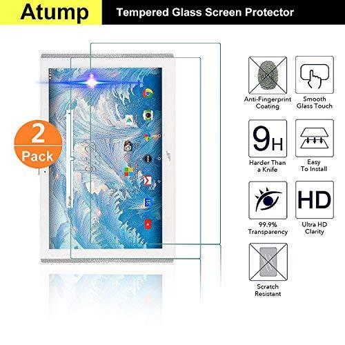 [2 Stück] Acer Iconia One 10 B3-A40 Panzerglas Schutzfolie Glas Folie Panzerfolie for Acer Iconia One 10 B3-A40 Bildschirmfolie - 9H Hardness aus gehärtetem Glas - 9H Hardness aus