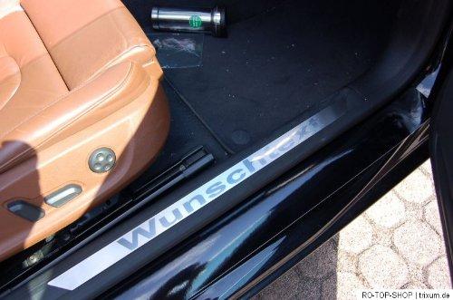 Honda Auto Uhr (Tuneon Einstiegsleiste Edelstahl Silber Edelstahl)