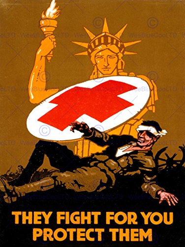 war-medical-red-cross-statue-liberty-soldier-new-art-print-poster-cc3957