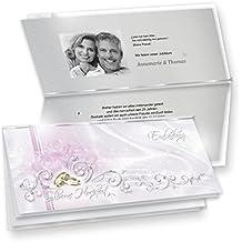 Einladungskarten Silberne Hochzeit (20 Sets) Hinreissend   Fein Abgestimmte  Einladungskarten In Silberoptik. Set