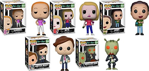 Funko POP! Rick & Morty: Summer + Beth + Jerry + Lawyer Morty + Cornve